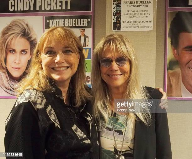 Karen Allen and Cindy Pickett attend the Chiller Theatre Expo Spring 2019 at Parsippany Hilton on April 27, 2019 in Parsippany, New Jersey.