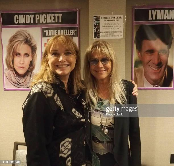 Karen Allen and Cindy Pickett attend the Chiller Theatre Expo Spring 2019 at Parsippany Hilton on April 27 2019 in Parsippany New Jersey