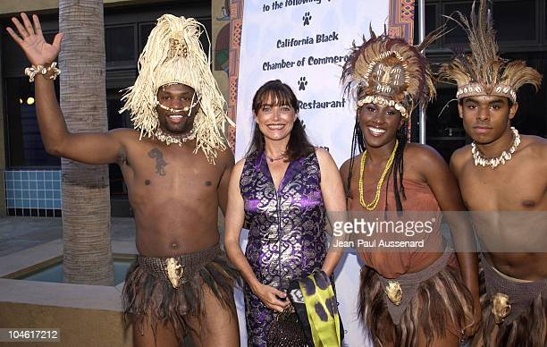 Karen Allen and dancers during Shaka Zulu The Citadel Screening at The Egyptian Theatre in Hollywood California United States