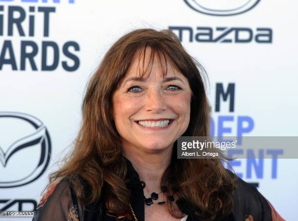 Karen Allen arrives for the 2020 Film Independent Spirit Awards held on February 8, 2020 in Santa Monica, California.