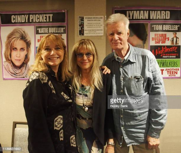 Karen Allen, Cindy Pickett and Lyman Ward attend the Chiller Theatre Expo Spring 2019 at Parsippany Hilton on April 27, 2019 in Parsippany, New...