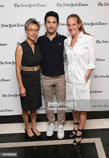 Karen Altuzarra fashion designer Joseph Altuzarra and guest attend the New York Times Vanessa Friedman and Alexandra Jacobs welcome party on...