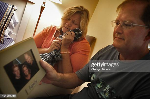 NIGUEL CA Karen and Mike Laspisa sit in their son's bedroom in their Laguna Niguel Calif home with clothes and pictures of Bryce who was 19 when he...