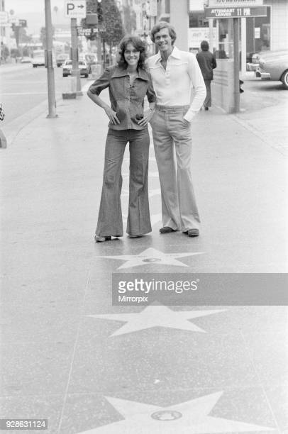 Karen and Richard Carpenter The Carpenters pictured in Hollywood Los Angeles California USA This is an exclusive first set of pictures since Karens'...
