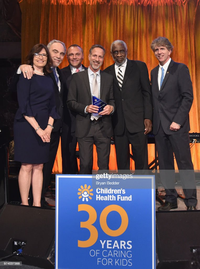 Karen B. Redlene, Irwin Redlener, Herve Sedky, Redlener Award Winner Dr. Alan Shapiro,and Dennis Johnson attend the Children's Health Fund 2018 Annual Benefit at Cipriani 42nd Street on June 13, 2018 in New York City.