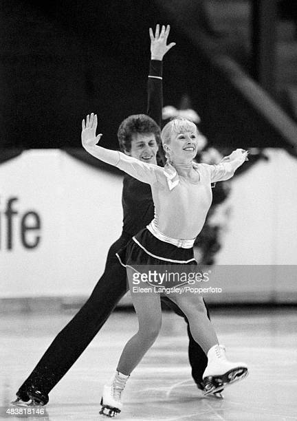 Karen Barber and Nicky Slater of Great Britain performing in the Ice Dancing event during the European Figure Skating Championships in Dortmund...