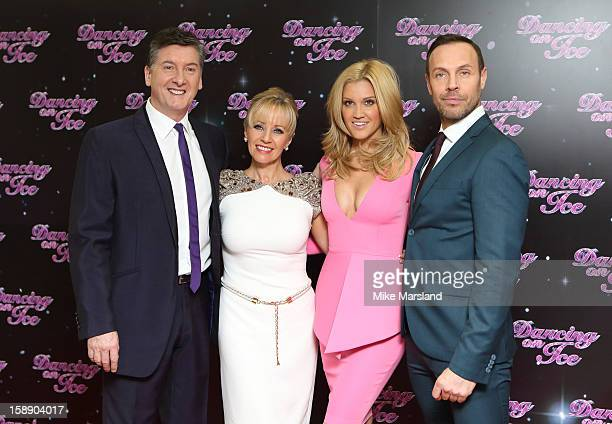 Karen Barber Ashley Roberts Karen Barber and Jason Gardiner attends a photocall for the launch of Dancing on Ice 2013 at The London Television Centre...