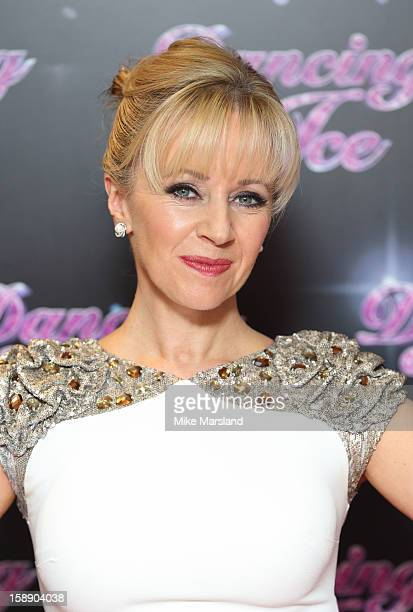Karen Barber attends a photocall for the launch of Dancing on Ice 2013 at The London Television Centre on January 3 2013 in London England