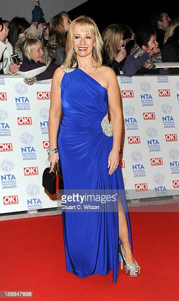 Karen Barber attends the National Television Awards at 02 Arena on January 23 2013 in London England