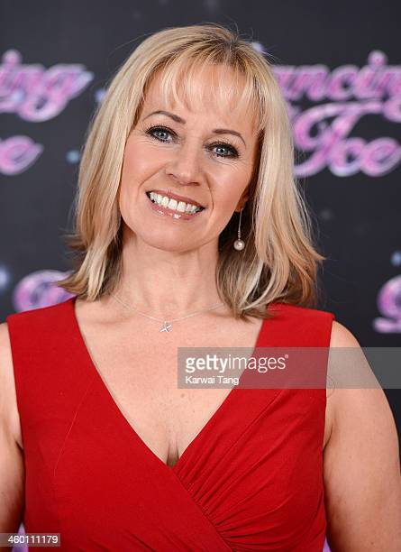 Karen Barber attends the series launch photocall for Dancing on Ice held at the London Studios on January 2 2014 in London England