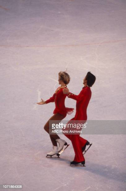 Karen Barber Nicky Slater competing in the Ice Dancing figure skating event at the 1980 Winter Olympics / XIII Olympic Winter Games Olympic Center...