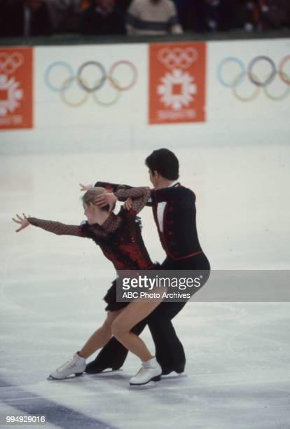 Karen Barber Nicky Slater in the ice dancing competition at the 1984 Winter Olympics / XIV Olympic Winter Games Zetra Ice Hall