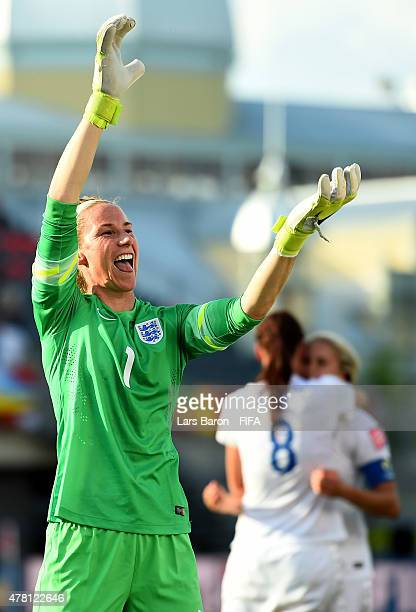 Karen Bardsley of England celebrates after winning the FIFA Women's World Cup 2015 Round of 16 match between Norway and England at Lansdowne Stadium...