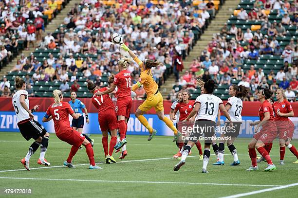 Karen Bardsley of England does a save during the FIFA Women's World Cup Canada 2015 Third Place Play-off match between Germany and England at...