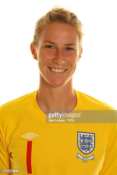Karen Bardsley of England during the FIFA portrait session on June 24 2011 in Wolfsburg Germany