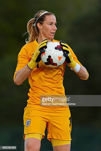 Karen Bardsley of England in action during the friendly match between England and Norway at la Manga Club on January 17 2014 in La Manga Spain