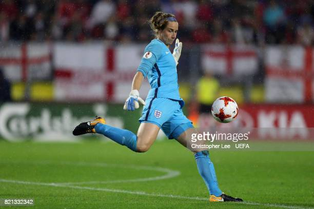 Karen Bardsley of England in action during the UEFA Women's Euro 2017 Group D match between England and Spain at Rat Verlegh Stadion on July 23 2017...