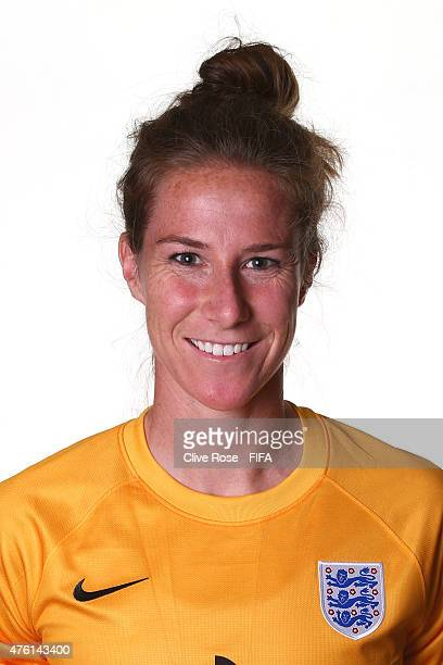 Karen Bardsley of England poses during a FIFA Women's World Cup portrait session on June 6 2015 in Moncton Canada