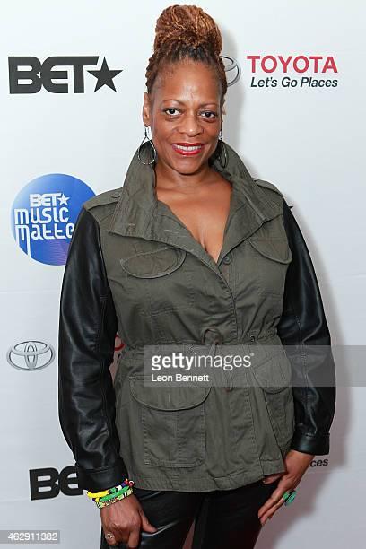 Karen Bernard attended the BET Music Matters Grammy Showcase at HOME on February 6 2015 in Beverly Hills California