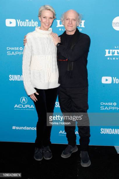 Karen Bjornson and Director Timothy GreenfieldSanders attend the 'Toni Morrison The Pieces I Am' Premiere during the 2019 Sundance Film Festival at...