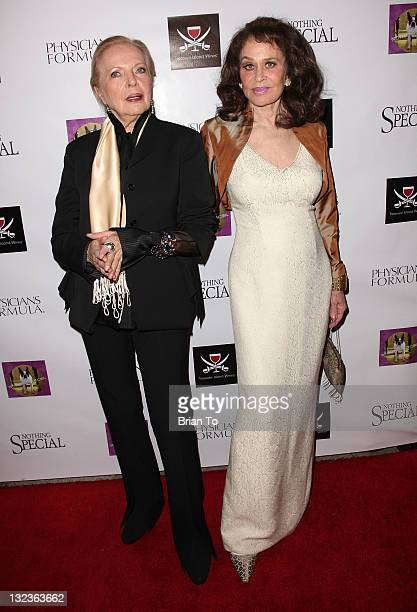 Karen Black and Barbara Bain attend 'Nothing Special' Los Angeles premiere at Laemmle Music Hall on November 11 2011 in Beverly Hills California