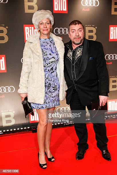 Karen Boehne and Armin Rohde attend the Bild 'Place to B' Party on February 07 2015 in Berlin Germany