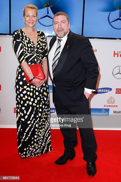 Karen Boehne and Armin Rohde attend the Goldene Kamera 2015 on February 27 2015 in Hamburg Germany
