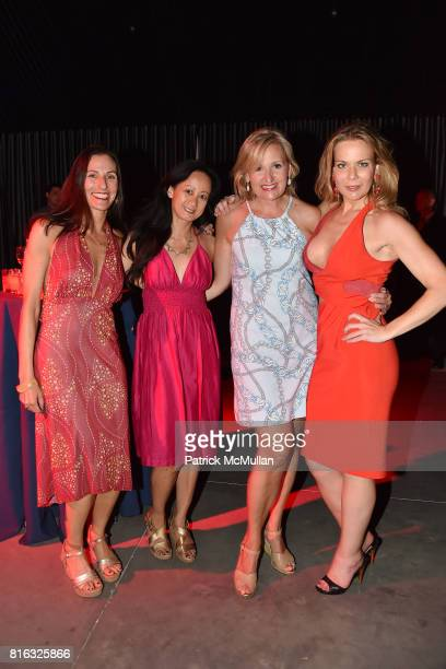 Karen Boyer Julie Liang Adrianna Pidwerbetsky and Erin Gibbs attend the Midsummer Party 2017 at Parrish Art Museum on July 15 2017 in Water Mill New...