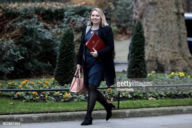 Karen Bradley UK Northern Ireland secretary arrives for a weekly meeting of cabinet ministers at number 10 Downing Street in London UK on Tuesday Jan...