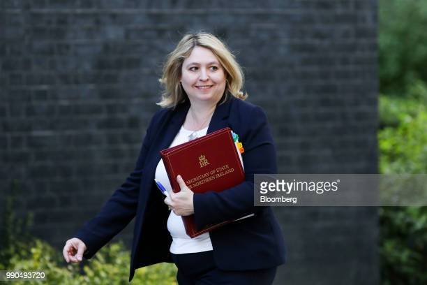 Karen Bradley UK Northern Ireland secretary arrives to attend a meeting of cabinet minsters at number 10 Downing Street in London UK on Tuesday July...