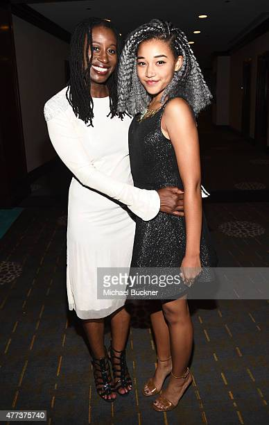 Karen Brailsford and actress Amandla Stenberg attend the Women In Film 2015 Crystal Lucy Awards Presented by Max Mara BMW of North America and...