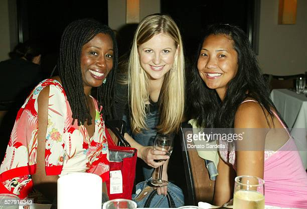 Karen Brailsford Lauren Lyster and Alice Chung during Levi's 501Caroline Calvin Reception at The Pearl Restaurant in West Hollywood California United...