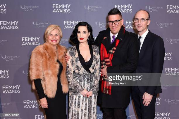 Karen Bromley and Dita Von Teese attend 2018 Femmy Awards hosted by Dita Von Teese on February 6 2018 in New York City