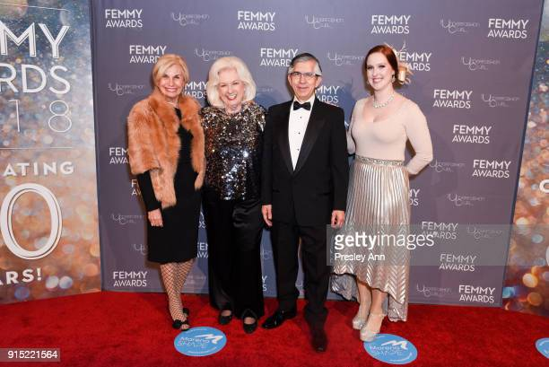 Karen Bromley Ann Deal Victor H Vega and Amy Bittner attend 2018 Femmy Awards hosted by Dita Von Teese on February 6 2018 in New York City
