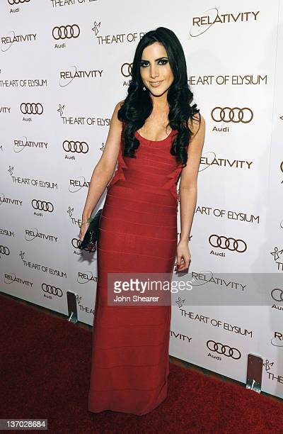 Karen Brooks arrives at Audi presents The Art of Elysium's 5th annual HEAVEN at Union Station on January 14, 2012 in Los Angeles, California.