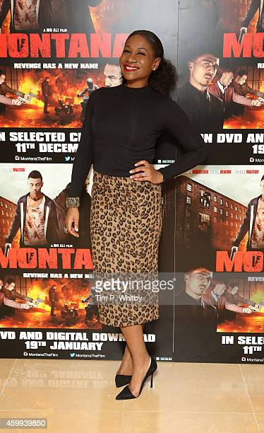 Karen Bryson attends a gala screening of Montana at May Fair Hotel on December 4 2014 in London England