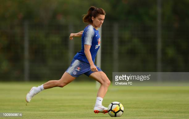 Karen Carney of Chelsea during their training session on August 01 2018 in Montpellier France
