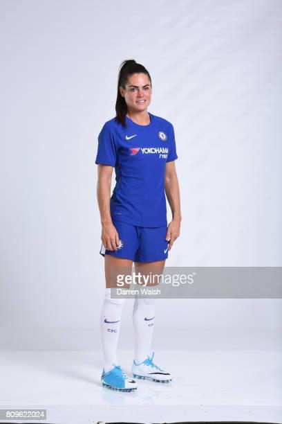 Karen Carney of Chelsea Ladies during the Chelsea Ladies Nike Kit Shoot at Chelsea Training Ground on June 30 2017 in Cobham England