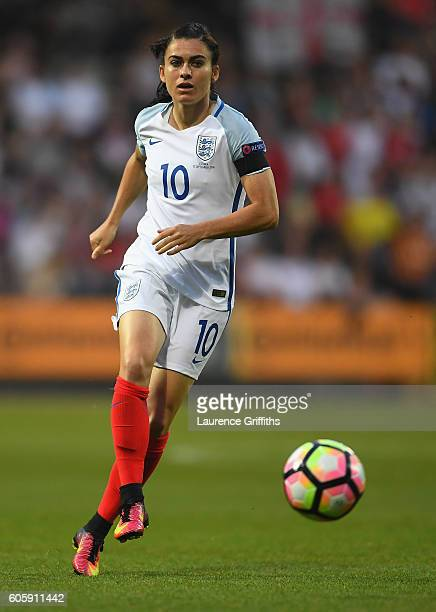 Karen Carney of England in actionduring the UEFA Women's Euro 2017 Qualifier between England and Estonia at Meadow Lane on September 15 2016 in...