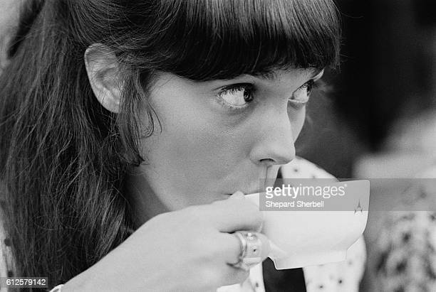 Karen Carpenter Drinking Tea