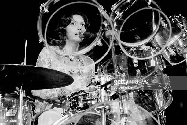 Karen Carpenter from The Carpenters performs live on stage in Copenhagen Denmark in 1974