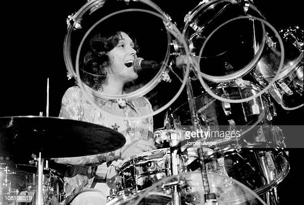 Karen Carpenter from The Carpenters performs live on stage in Copenhagen Denmark in 1974