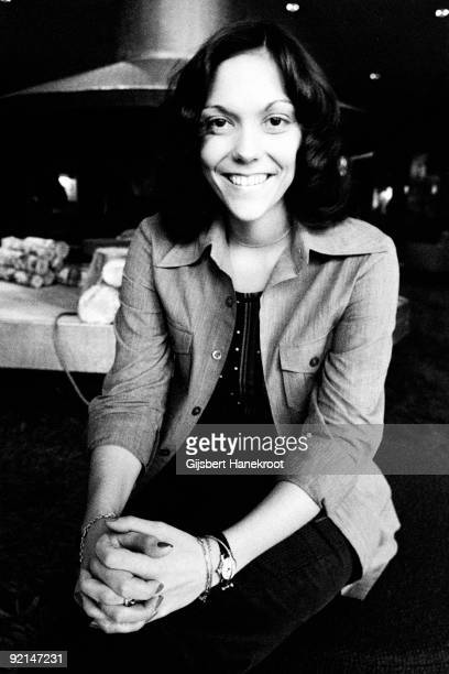 Karen Carpenter from the Carpenters posed in the lounge of The Hilton Hotel Amsterdam Netherlands circa 1972