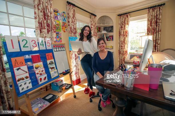 Karen Carter, right, and her daughter Tai teach 4&5 year olds at Bushnell Way elementary school in Highland Park. Karen is a classroom veteran, Tai a...