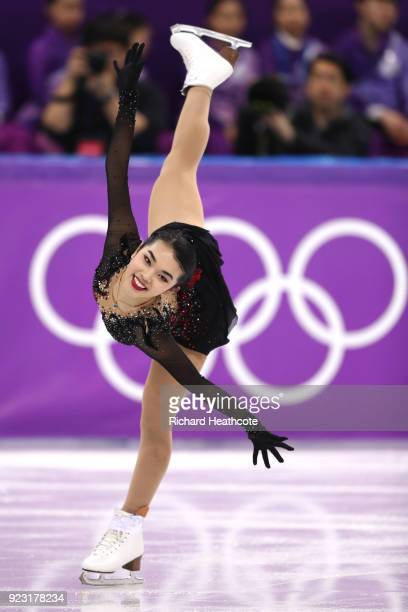 Karen Chen of the United States competes during the Ladies Single Skating Free Skating on day fourteen of the PyeongChang 2018 Winter Olympic Games...