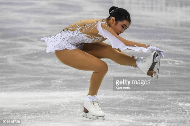 Karen Chen of United States competing in free dance at Gangneung Ice Arena Gangneung South Korea on February 21 2018