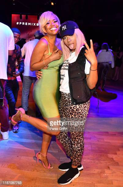 Karen Civil and Khadi Don attends PREMIX Hosted By Connie Orlando at The Sunset Room on June 20 2019 in Los Angeles California