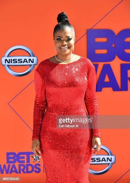 Karen Civil attends the 2018 BET Awards at Microsoft Theater on June 24 2018 in Los Angeles California