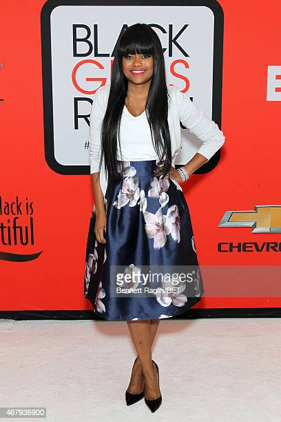 Karen Civil attends the BET's Black Girls Rock Red Carpet sponsored by Chevrolet at NJPAC – Prudential Hall on March 28 2015 in Newark New Jersey