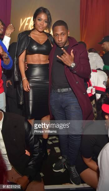 Karen Civil attends Trap Du Soleil celebrating LYF Lucci on February 13 2018 in Atlanta Georgia